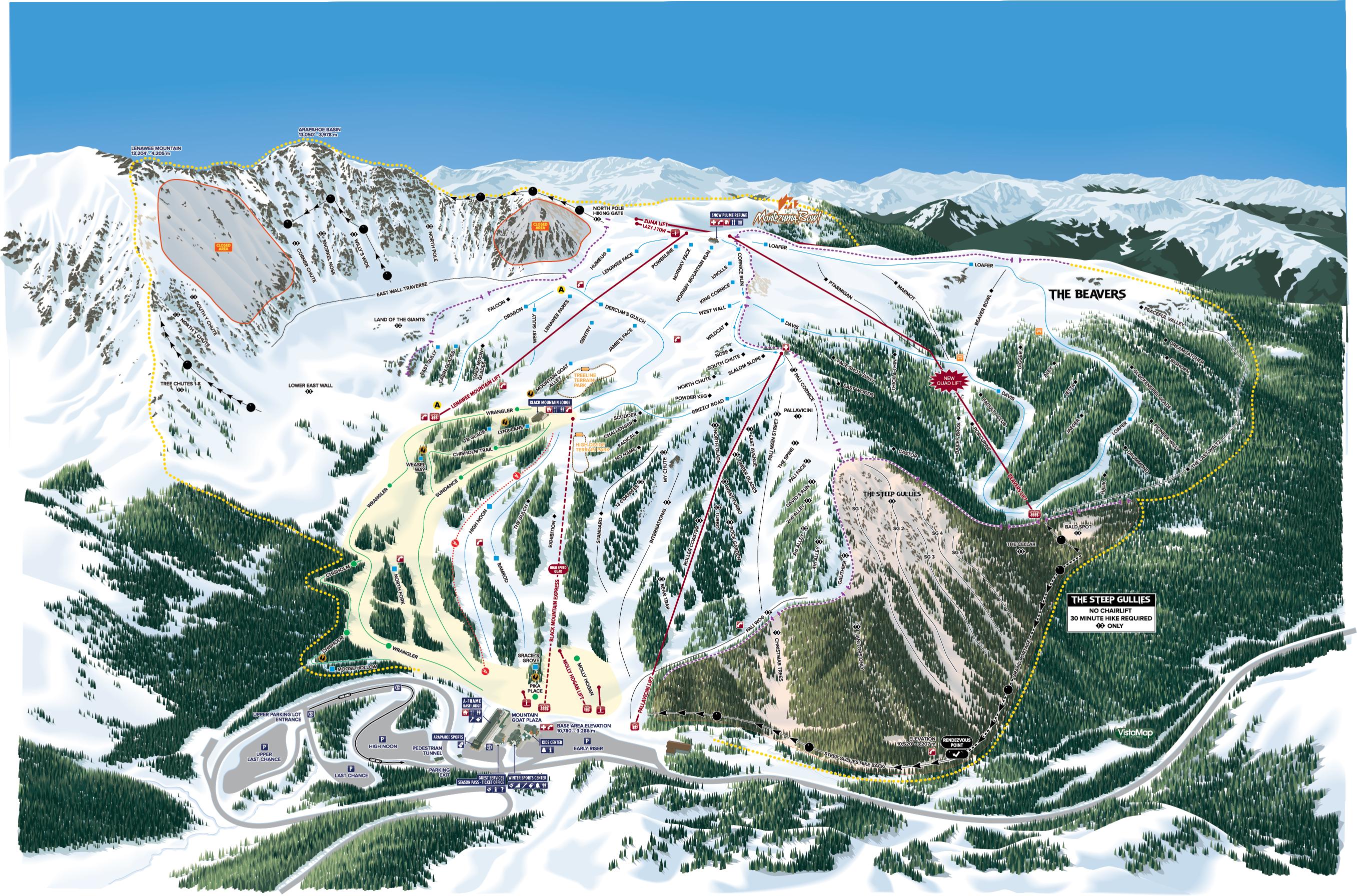 Trail Maps | Arapahoe Basin Ski & Snowboard Area on