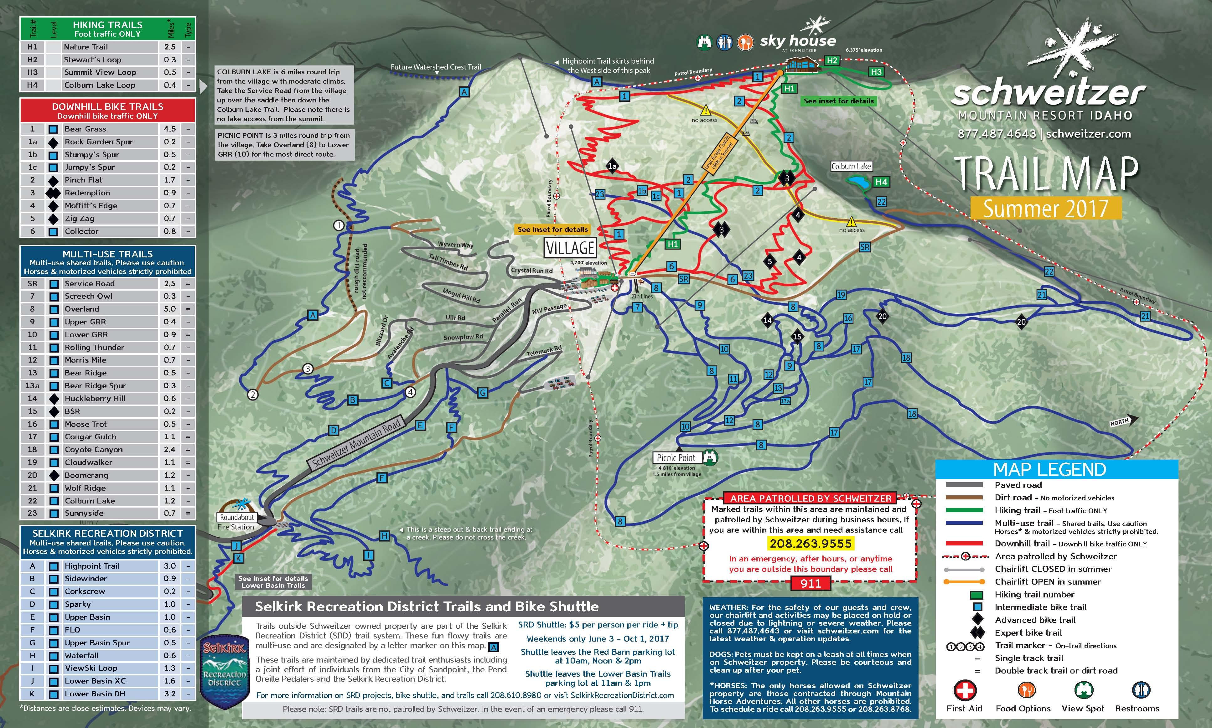 Summer Trail Maps